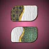 Premium Luxury cards,Retro Backgrounds.blank for message or text.polygon Royalty Free Stock Photos