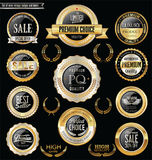 Premium and luxury silver retro badges and labels collection.  Royalty Free Stock Image