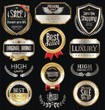 Premium and luxury silver retro badges and labels collection Stock Photos