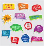 Premium and luxury silver retro badges and labels collectionPromo sale stickers and tags collection modern design. Promo sale stickers and tags collection modern Royalty Free Stock Photography