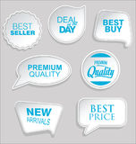Premium and luxury silver retro badges and labels collectionPromo sale stickers and tags collection modern design. Promo sale stickers and tags collection modern Royalty Free Stock Photos