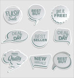 Premium and luxury silver retro badges and labels collectionPromo sale stickers and tags collection modern design. Promo sale stickers and tags collection modern Royalty Free Stock Photo