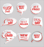 Premium and luxury silver retro badges and labels collectionPromo sale stickers and tags collection modern design. Promo sale stickers and tags collection modern Stock Photography