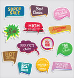 Premium and luxury silver retro badges and labels collectionPromo sale stickers and tags collection modern design Royalty Free Stock Photo