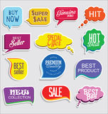 Premium and luxury silver retro badges and labels collectionPromo sale stickers and tags collection modern design Royalty Free Stock Images