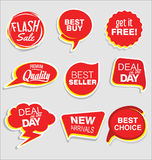 Premium and luxury silver retro badges and labels collectionPromo sale stickers and tags collection modern design. Promo sale stickers and tags collection modern Royalty Free Stock Image