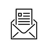 Premium mail icon or logo in line style royalty free illustration