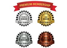 Premium membership badges Stock Photography