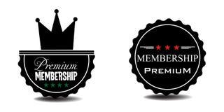 Premium membership badges. Two premium membership badges isolated on a white background stock illustration