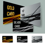 Premium membership partner swoosh line layout cards collection Stock Image