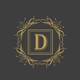 Premium monogram with English Alphabet D. Stock Photos