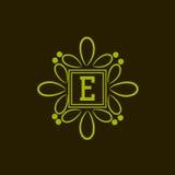 Premium monogram with English Alphabet E. Stock Images