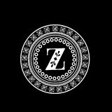Premium monogram with English Alphabet Z. Stock Image