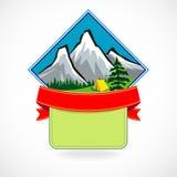 Premium - Mountain Label Stock Photos