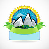 Premium - Mountain Label. Extremely beautiful , Vector Editable Layers , Mountain Labels for all your application needs Stock Photos
