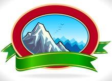 Premium - Mountain Label Royalty Free Stock Photo
