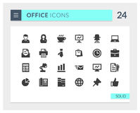 Premium Office Solid Vector icon set Royalty Free Stock Photography
