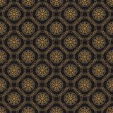 Luxury ornate abstract background in colors of gold and black. Premium oriental vector seamless pattern. Luxury abstract background in colors of gold and black stock illustration