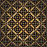 Luxury ornate abstract background in colors of gold and black. Premium oriental vector seamless pattern. Luxury abstract background in colors of gold and black royalty free illustration