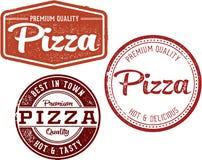 Premium Pizza Restaurant Menu Design Stamps Royalty Free Stock Photos