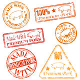 Premium Pork Rubber Stamps Stock Photography