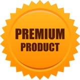 Premium product seal stamp orange. Vector illustration isolated on white background - premium product seal stamp orange Royalty Free Stock Image