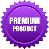 Premium product seal stamp violet. Vector illustration isolated on white background - premium product seal stamp violet Stock Images