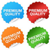 Premium quality. Stickers set isolated on white Royalty Free Stock Images
