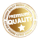 Premium quality. Gold stamp premium quality isolated over white background. vector Stock Photography