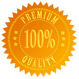 Premium quality. Gold certificate isolated on white Stock Photos
