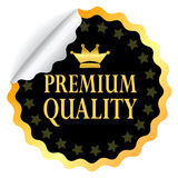 Premium quality. Sticker with curled corner Royalty Free Stock Photos