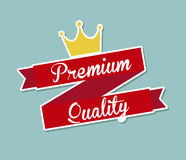 Premium quality. Design over blue background vector illustration Stock Photos