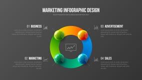 Premium quality analytics presentation vector illustration template. Business data visualization creative design layout. Amazing corporate statistics royalty free illustration