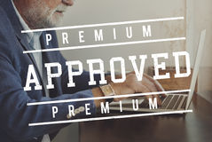 Premium Quality Approved Stamp Concept. People Choose Premium Approved Stamp Stock Image