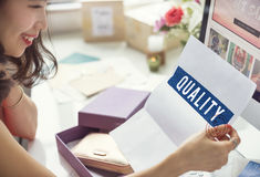 Premium Quality Approved Word Tag Concept. Quality Word Tag Technology Concept Royalty Free Stock Images