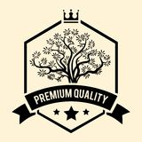 Premium Quality badge or label for Olive Oil Royalty Free Stock Image