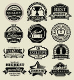 Premium quality badges Royalty Free Stock Photography