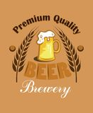 Premium Quality Beer - Brewery label Royalty Free Stock Photos