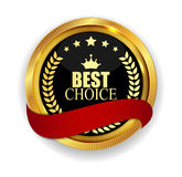 Premium Quality Best Choice Golden Medal Icon Seal  Sign Isolate Stock Images