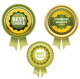 Premium Quality and Best Choice Label / Bestseller label . Stock Image