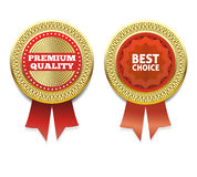 Premium Quality and Best choice Label. Stock Photos