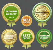 Premium Quality and Best choice Label. Stock Photo