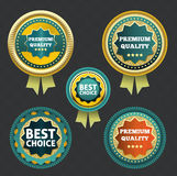 Premium quality and best choice label Royalty Free Stock Image