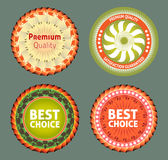 Premium quality and best choice label Royalty Free Stock Photos