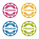 Premium Quality Button - Colorful Vector Illustration - Isolated On White. Background Royalty Free Stock Image