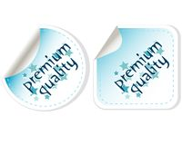 Premium Quality Button vector Label set Stock Image