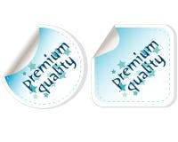 Premium Quality Button Vector Label Set Stock Image