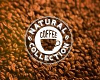 Premium quality coffee typography on blur Stock Photos
