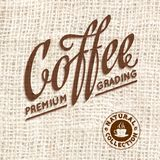 Premium quality coffee typography on blur Stock Images