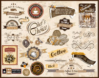 Premium quality collection. Of Vintage Restaurant, Coffee and food & co labels with different styles and space for text Stock Photo